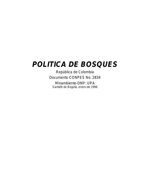 Politica De Bosques.