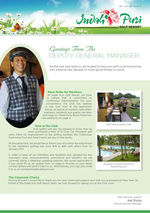 IPGR Newsletter Jan-April 2011 Issue