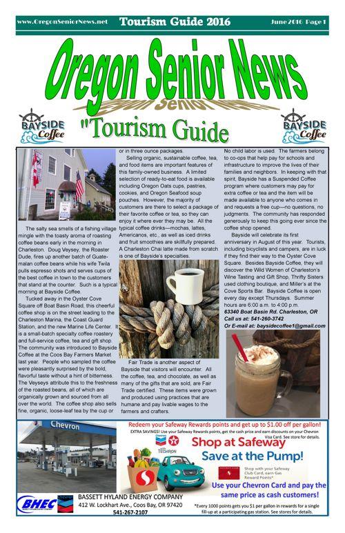 Oregon Senior News Tourism Guide June 2016