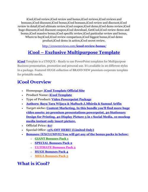 iCool Review & (Secret) $22,300 bonus