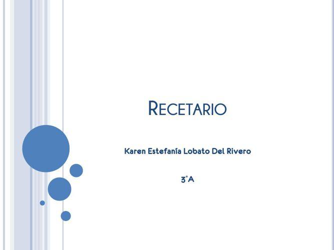 Karen Lobato Recetario