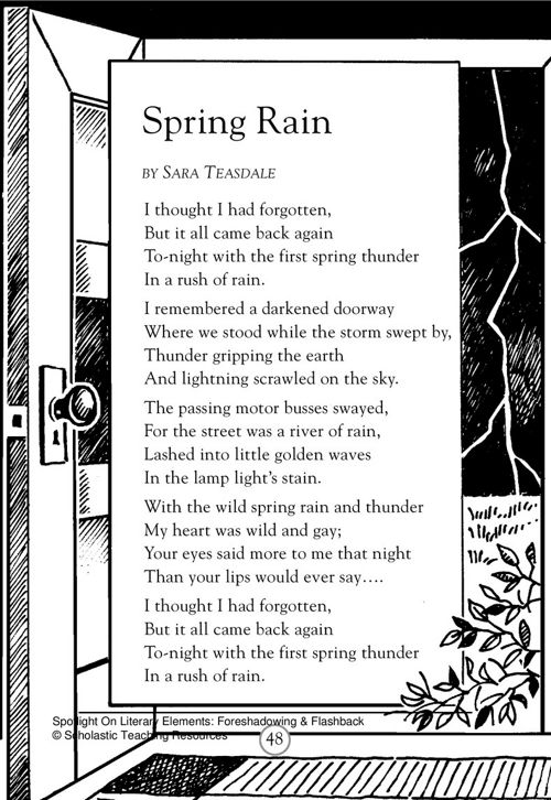 spring rain poem with flashback