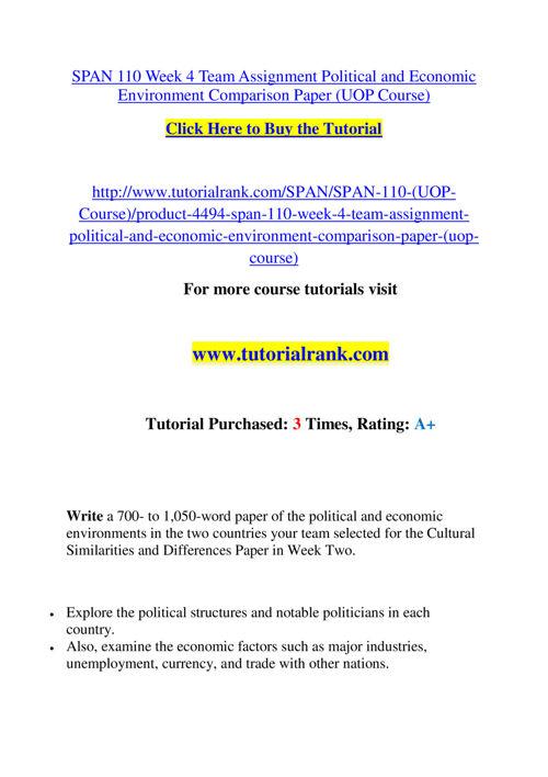 SPAN 110 Slingshot Academy / Tutorialrank.Com