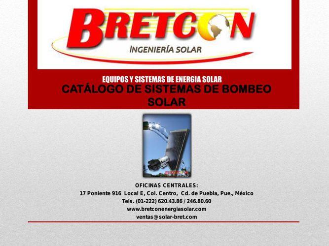 CATALOGO SISTEMAS DE BOMBEO 2015
