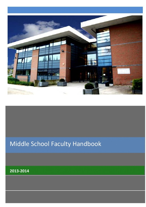 MS Faculty Handbook 2013-2014