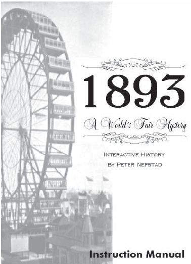 1893 - A World's Fair Mystery [Manual]