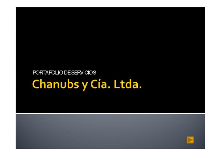 Chanubs y cia Ltda. portafolio de servicios
