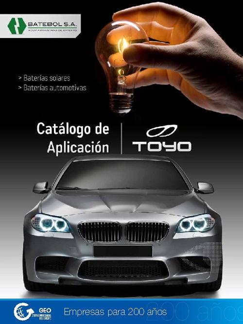 Catálogo de baterías TOYO 2012