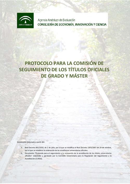 Protocolo seguimiento de titulos oficiales