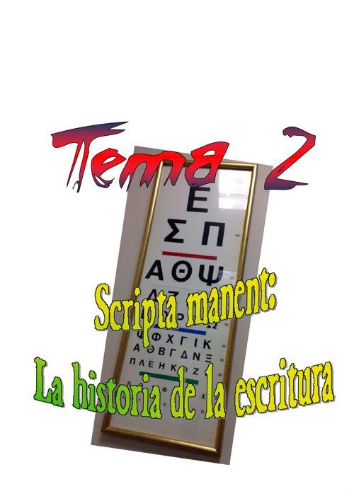 CC3 - Tema 2 - Historia de la escritura