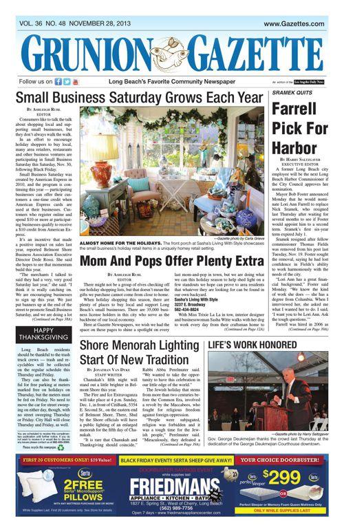 Grunion Gazette   November 28, 2013