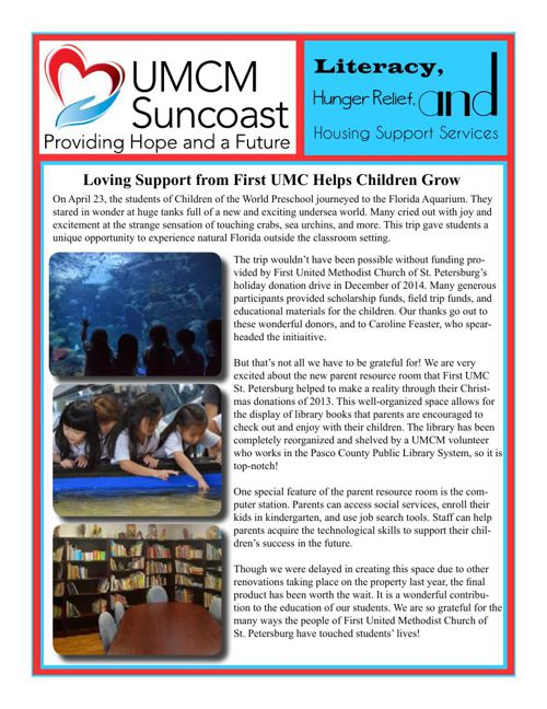 UMCM Suncoast Newsletter - June 2015