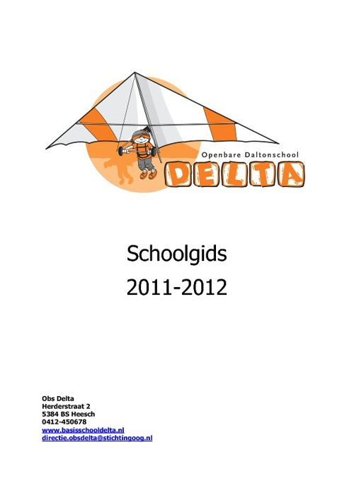 Schoolgids OBS Delta 2011-2012
