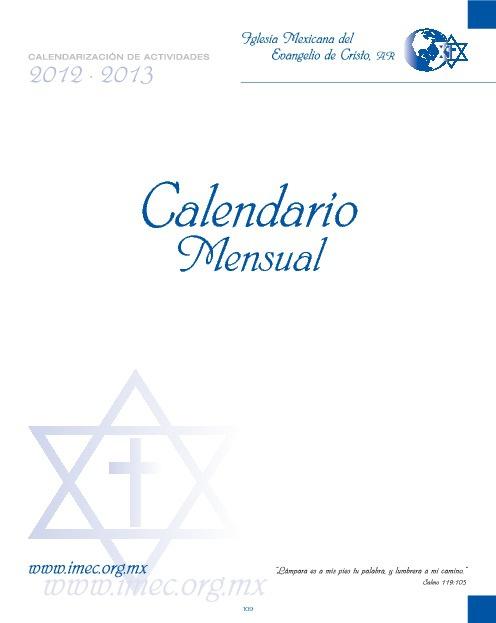 Calendario IMEC 2012-2013