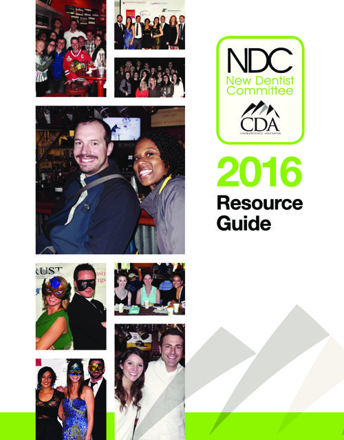 2016 CDA New Dentist Resource Guide