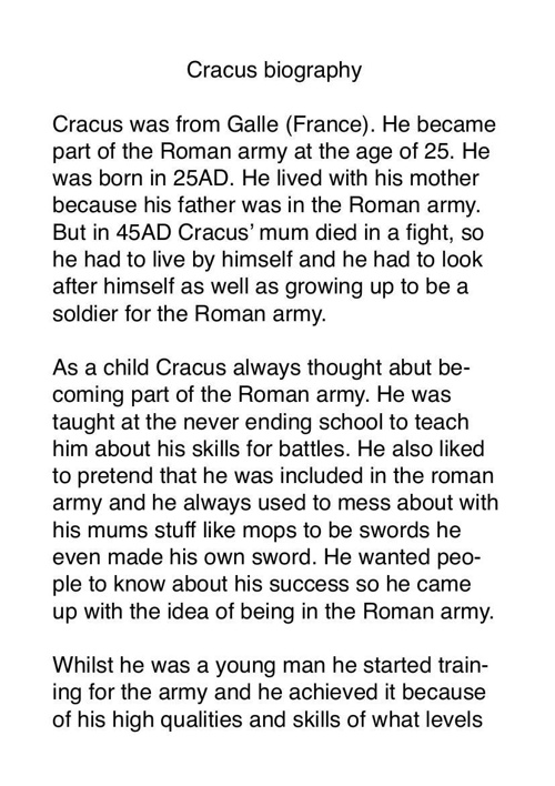 Cracus biography by Chloe