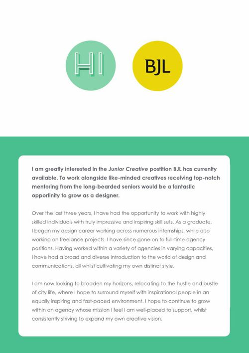 Hannah Mableson Cover Letter Graphic Designer BJL JC