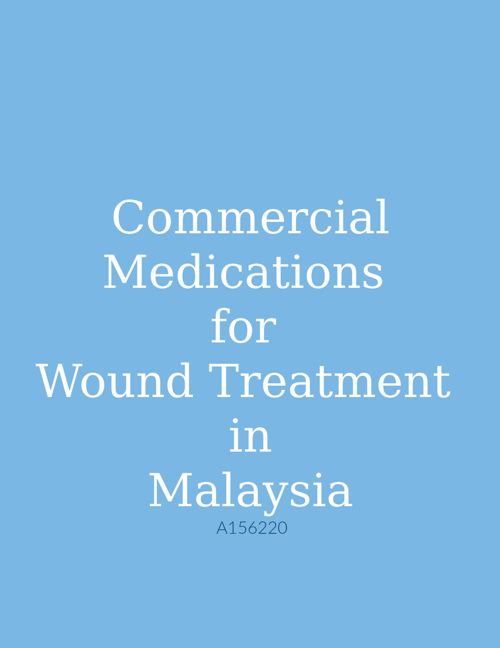 Commercial Medication for Wound Treatment