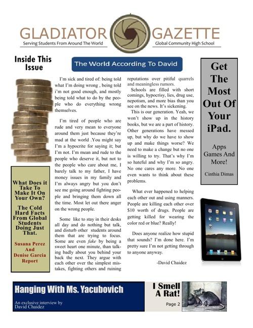March Issue Gladiator Gazette