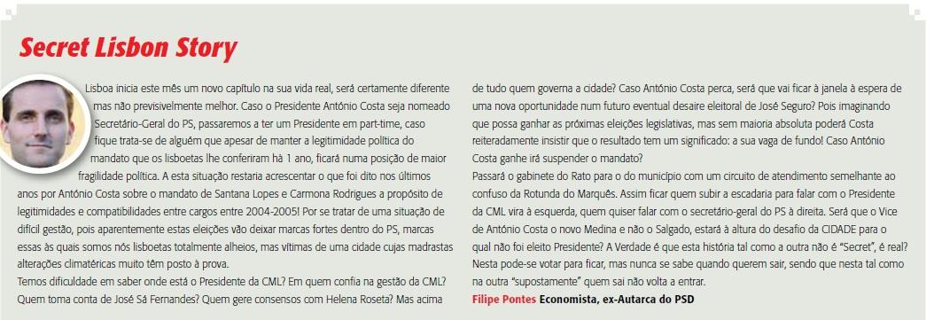 A opinião de Filipe Pontes