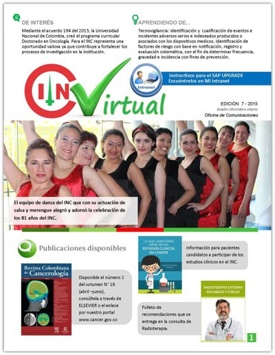 Boletín Virtual INC Julio 2015