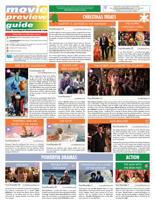 Christmas 2012 Movie Guide