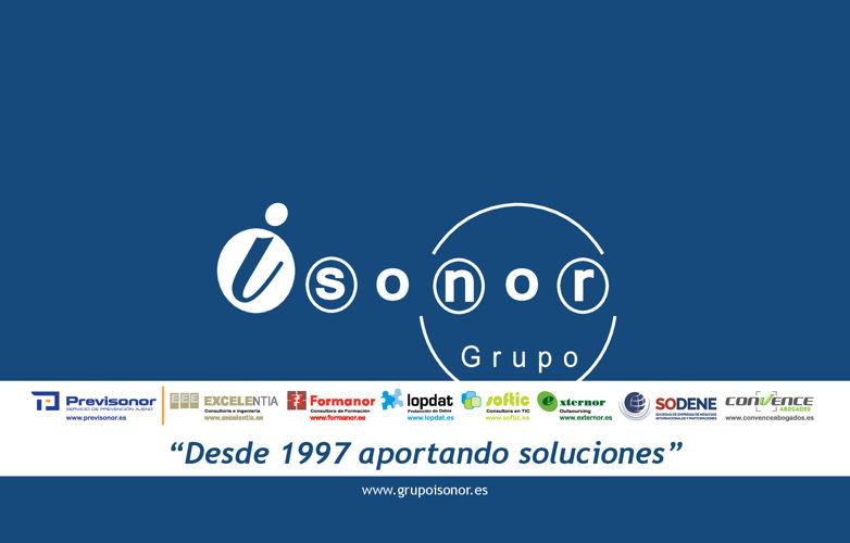 CATÁLOGO PRESENTACION GRUPO ISONOR