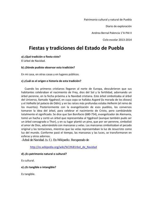 FIESTAS Y TRADICIONES DE PUEBLA