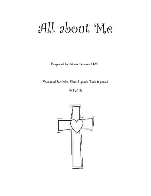 All about me bound report