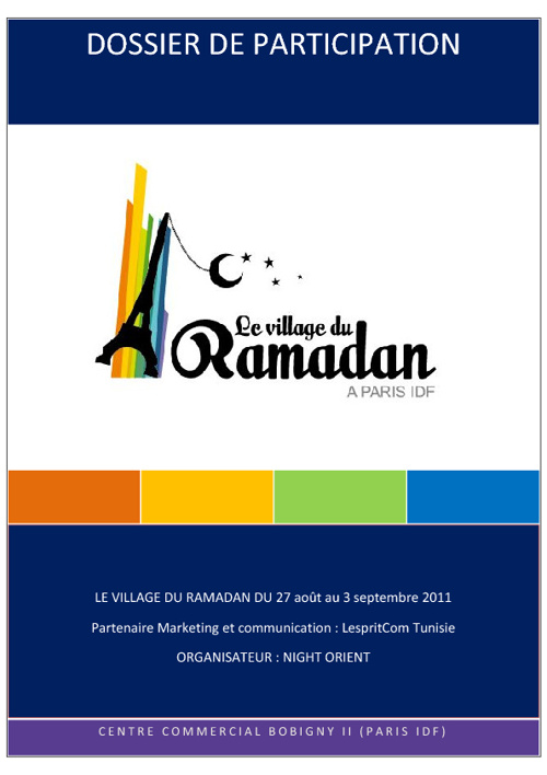 Dossier de participation Village du Ramadan