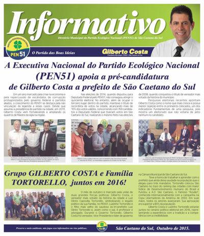 Informativo do Diretório Municipal do Partido Ecológico Nacional