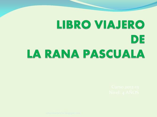 LIBRO VIAJERO DE LA MASCOTA DE CLASE