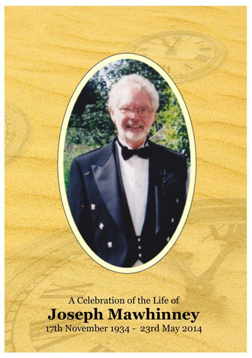 "4 Order of Service for Cecil ""Joseph"" Mawhinney"