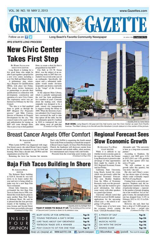 Grunion Gazette | May 2, 2013