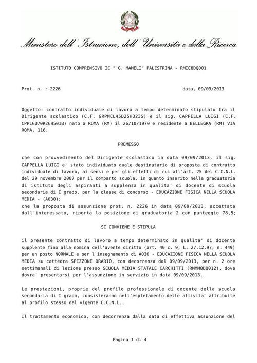 Contratto Carchitti