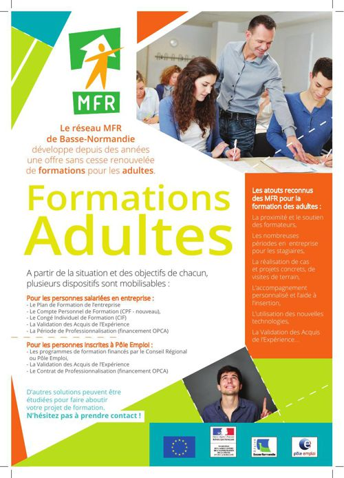 Formations adultes - MFR Basse-Normandie