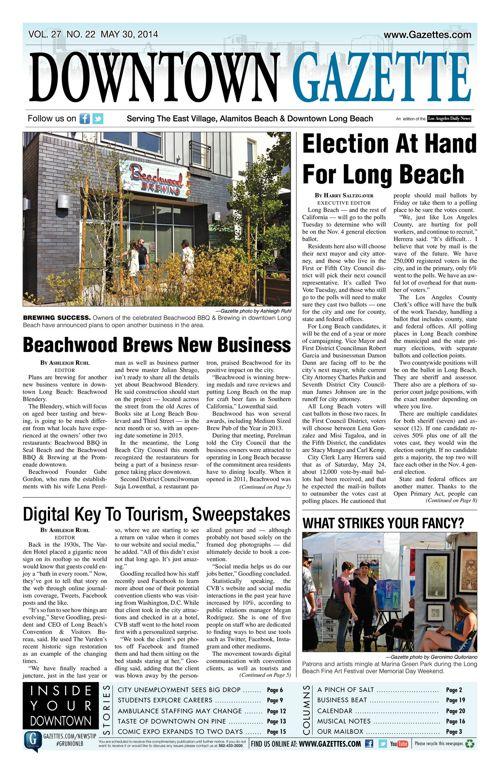 Downtown Gazette     May 30, 2014