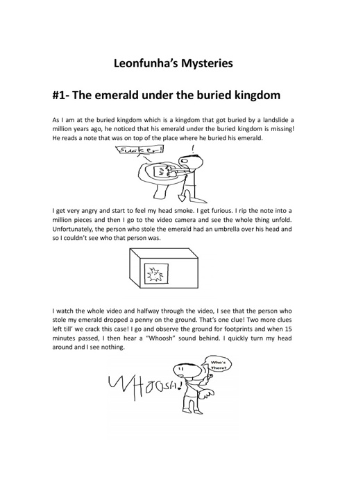 Leonfunha's Mysteries: #1 - The emerald under the buried kingdom