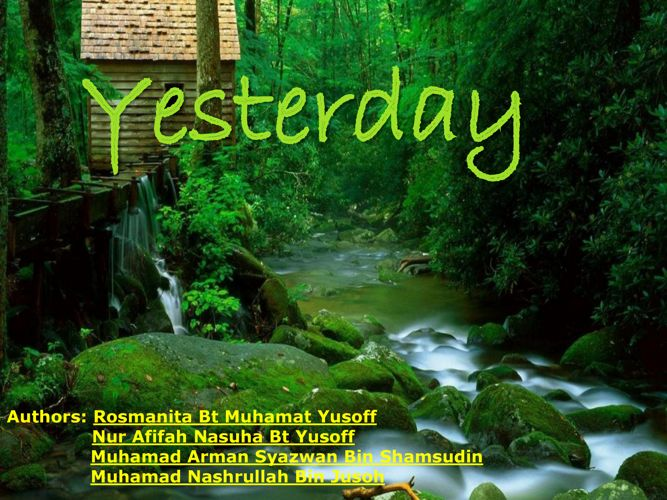 Tell Us A Story_YESTERDAY