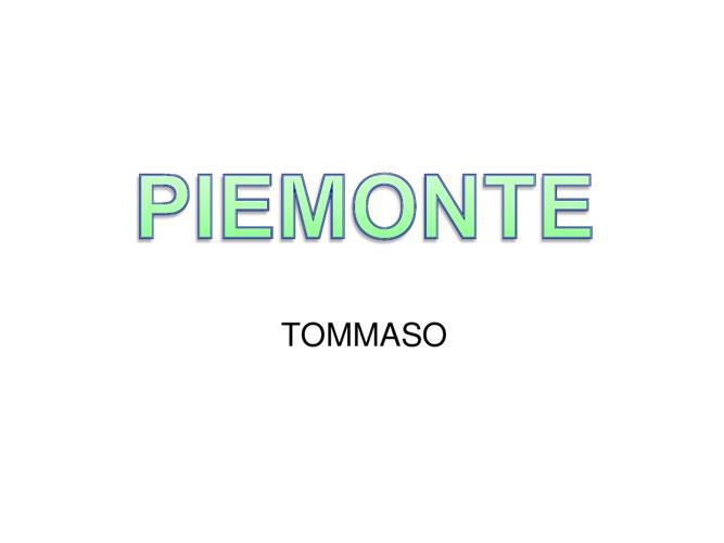 Presentazione Piemonte