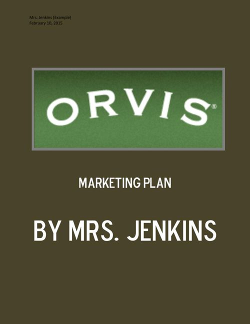 Orvis Marketing Plan