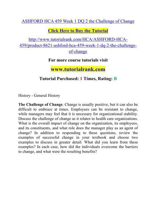 HCA 459 Potential Instructors / tutorialrank.com