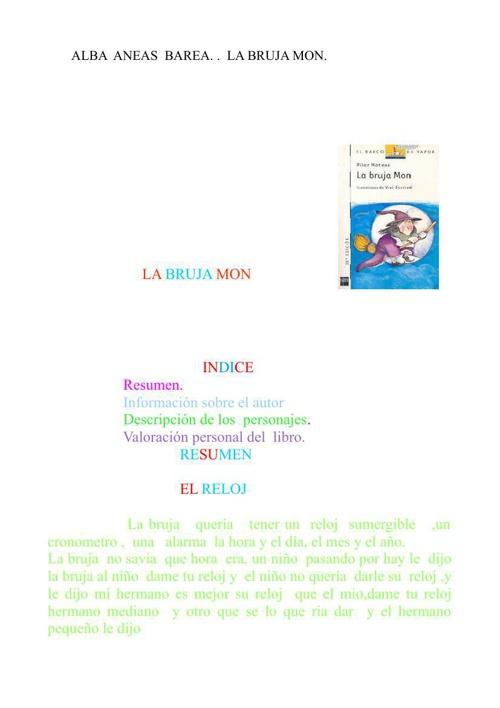 la bruja mon1234567890 pdf