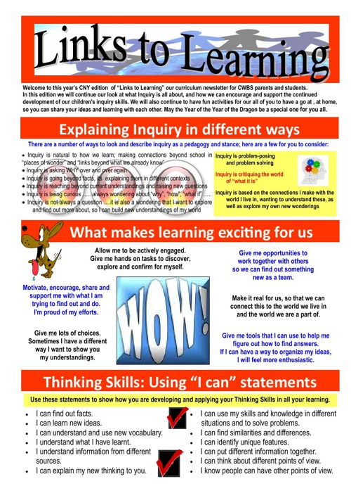 Links to Learning January 2012