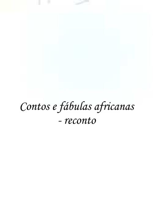 RECONTOS AFRICANOS VOLUME IV