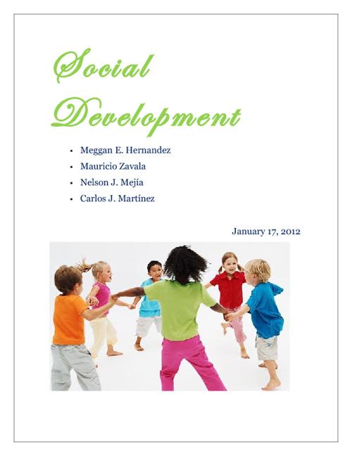15 Social Development