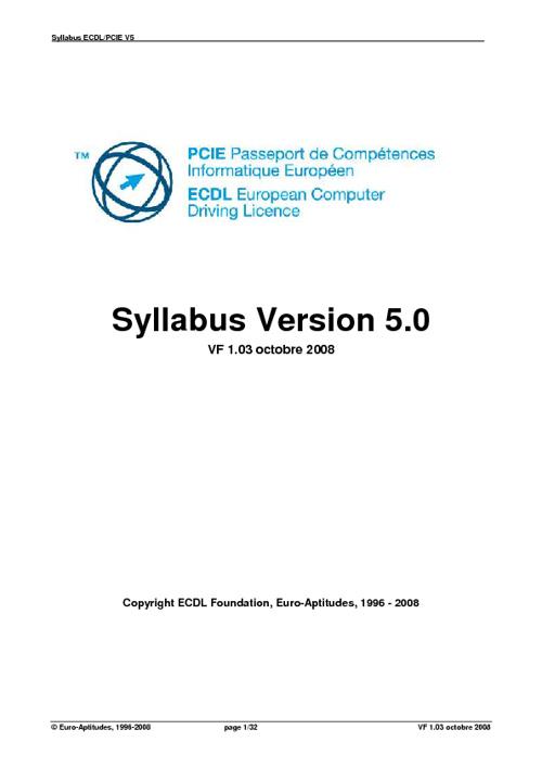 Référentiel PCIE