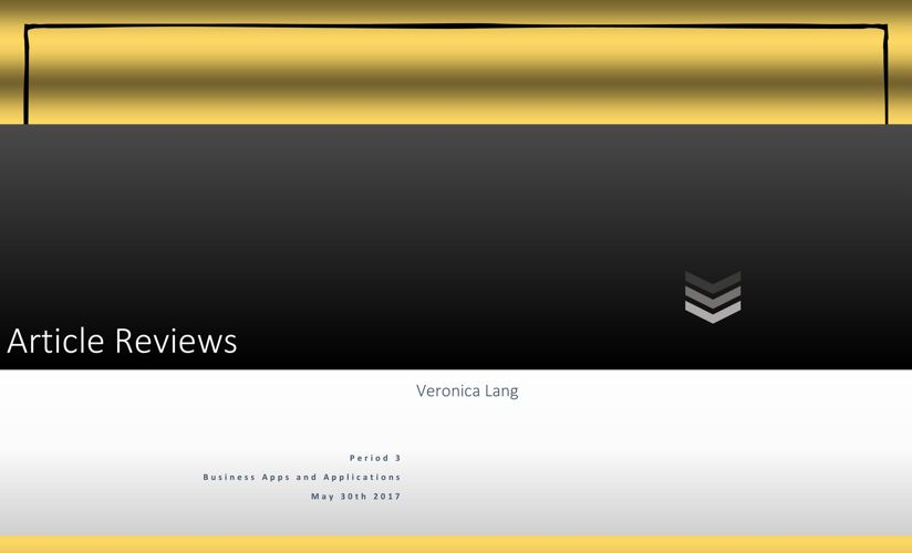 Article Reviews PDF Veronica Lang