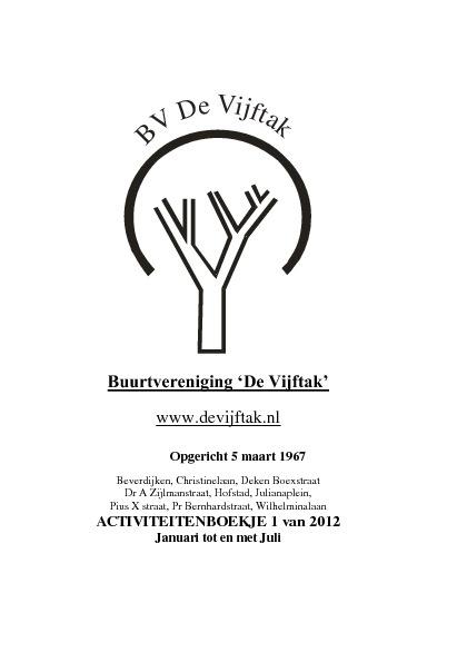 Activiteitenboekje 2012 1ste