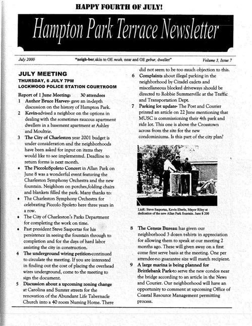 HPT Neighborhood July 2000